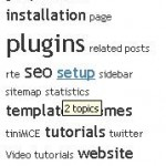 How to show Tag Cloud on a wordpress blog