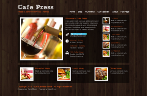 Cafe Press WordPress premium theme